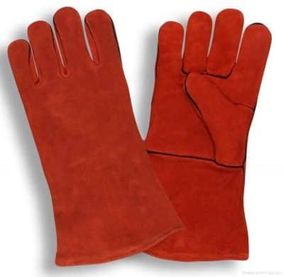 כפפות ריתוך אדומות